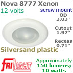 12 volt Ceiling Lights - Nova 8777 Recess Ceiling Light, SILVERSAND colored Bezel with 10 Watt XENON Bulb