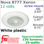 12 volt Ceiling Lights - Nova 8777 Recess Ceiling Light, WHITE Bezel with 10 Watt XENON Bulb