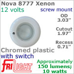 12 volt Ceiling Lights - Nova 8777 Recess Ceiling Light with Switch, CHROME colored Bezel with 10 Watt XENON Bulb