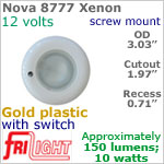 12 volt Ceiling Lights - Nova 8777 Recess Ceiling Light with Switch, GOLD colored Bezel with 10 Watt XENON Bulb