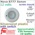 12 volt Ceiling Lights - Nova 8777 Recess Ceiling Light with Switch, SILVERSAND colored Bezel with 10 Watt XENON Bulb