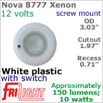 12 volt Ceiling Lights - Nova 8777 Recess Ceiling Light with Switch, WHITE Bezel with 10 Watt XENON Bulb
