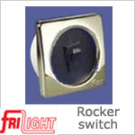 Single Euro 48601 Rocker Switch Black center and switch, with upgraded bezel color.