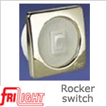 Single Euro 48601 Rocker Switch White center and switch, with upgraded bezel color.