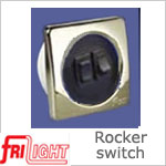Dual Euro 48602 Rocker Switch Black center and switches, with upgraded bezel color.