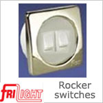 Dual Euro 48602 Rocker Switch White center and switches, with upgraded bezel color.