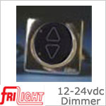 FriLight d1224 12 volt Dimmer - 24 volt Dimmer, 80 watt max, Black face with upgraded bezel color