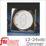 FriLight d1224 12 volt Dimmer - 24 volt Dimmer, 80 watt max, White face with upgraded bezel color