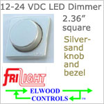 12 volt Dimmer (9-30vdc) - Elwood FriLight ef1206 Rotary Dimmer, SILVERSAND colored, 5 amps