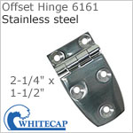 Offset Hinge 6161, 316 stainless steel