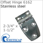 Offset Hinge 6162, 316 stainless steel