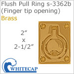 Flush Pull Ring s-3362b (Finger tip opening), polished BRASS