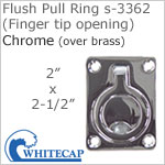 Flush Pull Ring s-3362 (Finger tip opening), CHROME (over brass)
