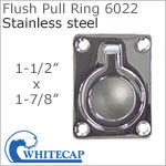 Flush Pull Ring 6022 (open ring), 316 stainless steel