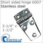 Short sided door hinge 6007, 316 stainless steel