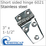 Short sided door hinge 6021, 316 stainless steel