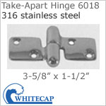 Take-Apart Hinge 6018, 316 stainless steel. LOCKING.