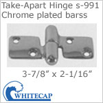 Take-Apart Hinge s-991, chrome plated brass. LOCKING.