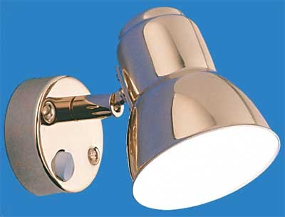 12 volt Reading Lights - Classic 8400 Metal Wall Light with Switch, BRASS with 10 watt XENON Bulb