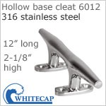 Hollow Base Boat Cleat 6012, 316 Stainless steel, 12""