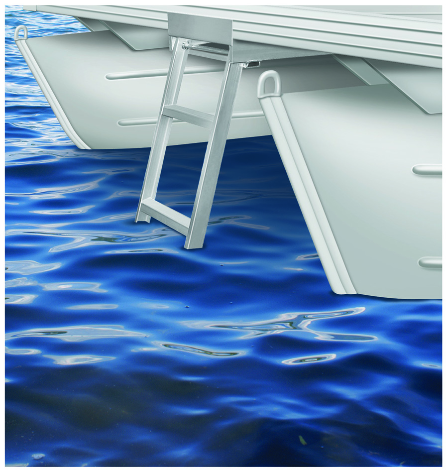 Jif Marine 4 Or 5 Step Under Deck Mounting Pontoon Ladder