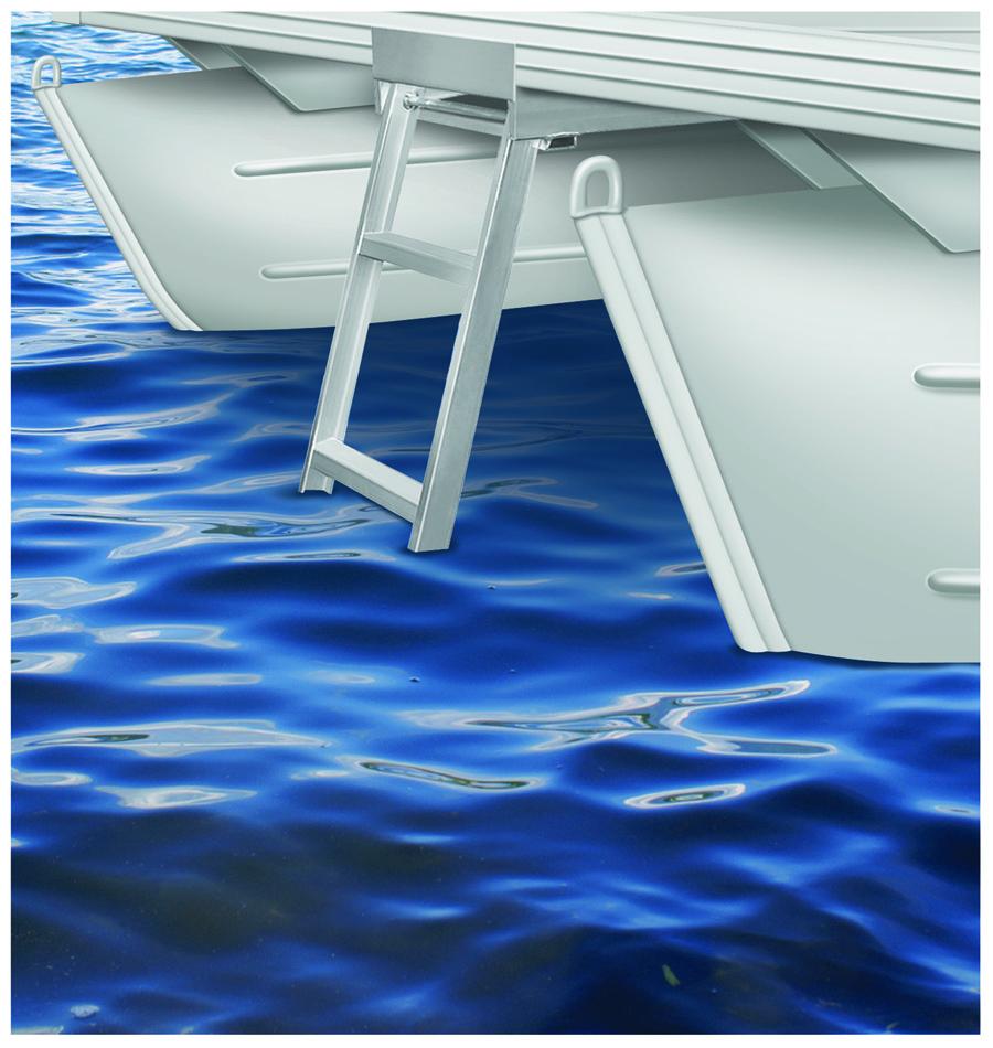 Jif Marine 4 Or 5 Step Under Deck Mounting Pontoon Ladder