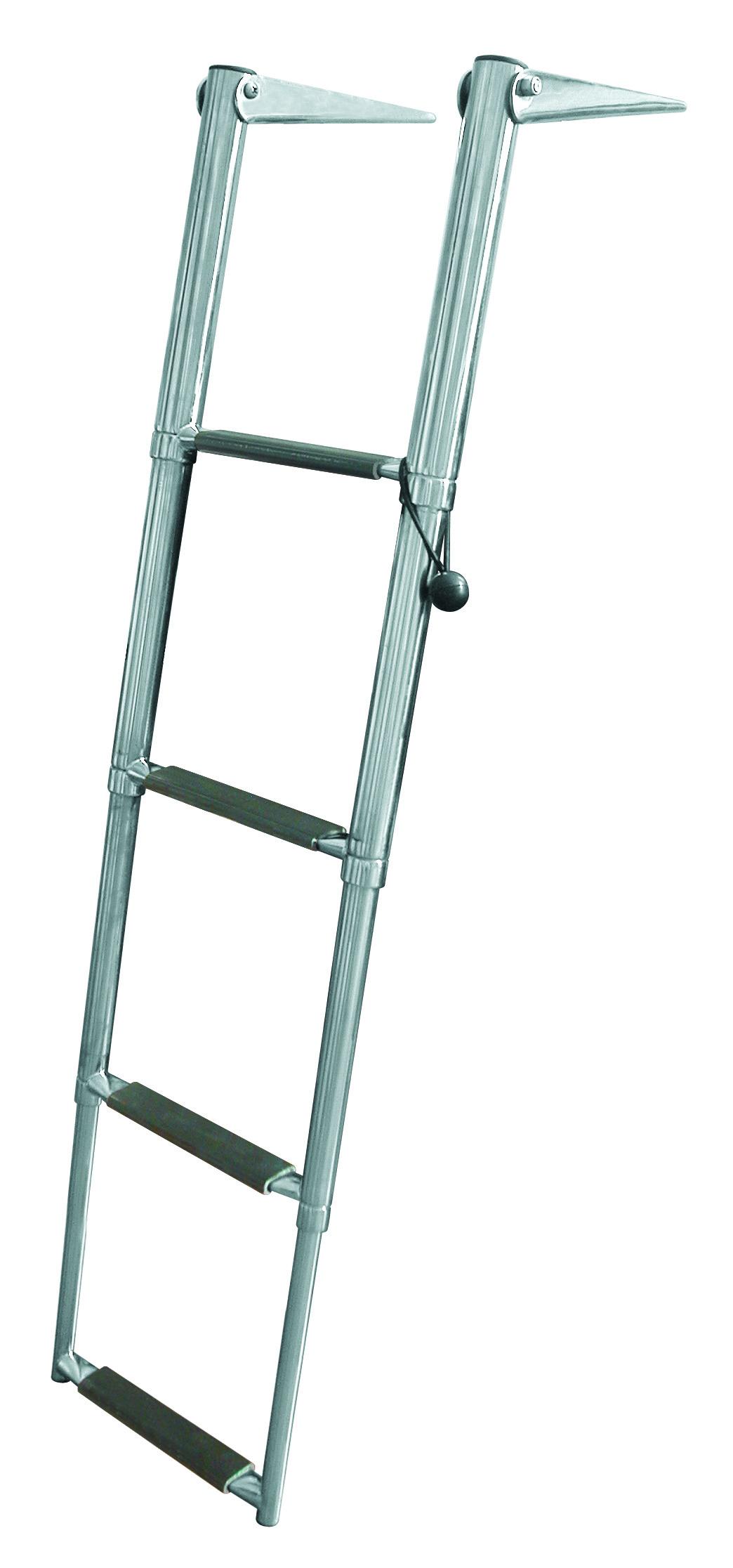 Jif Marine Slide Mount Transom Ladder With 4 Steps