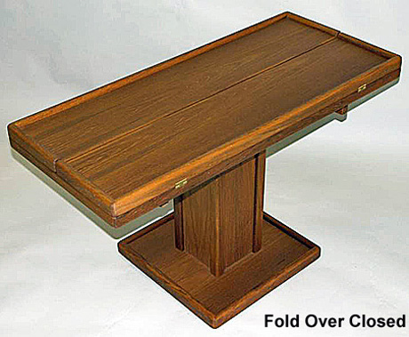 Adjustable Teak Table With Fold Over Leaves