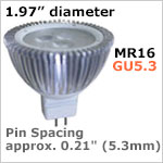 12 volt LED Bulbs MR16 GU5.3