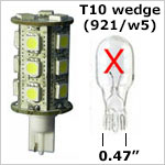 12 volt LED Bulbs T10 Wedge W5 921