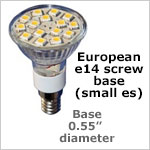 12 volt LED Bulbs E14 Screw Base