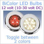 12 volt LED Bulbs Bi-color Switchable