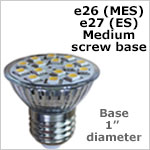 12 volt LED Bulbs E26-E27 Screw Base