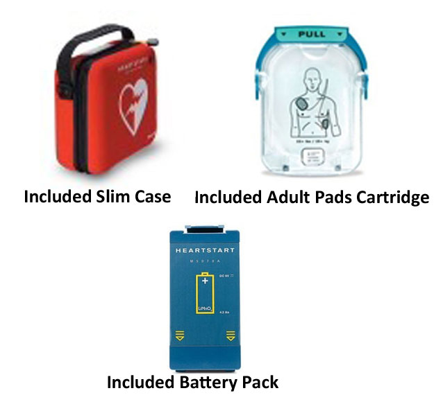 Philips HeartStart OnSite AED with Accessories