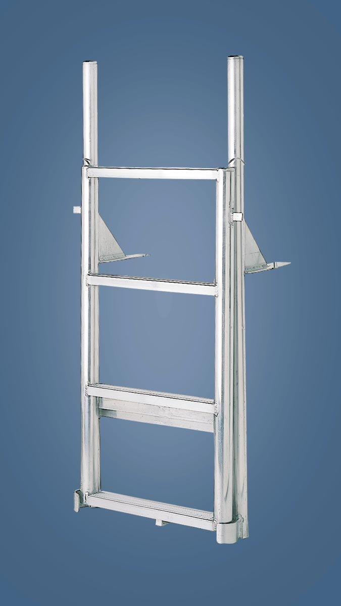 Straight Aluminum Lifting Finger Pier Dock Ladder 3 7 Steps