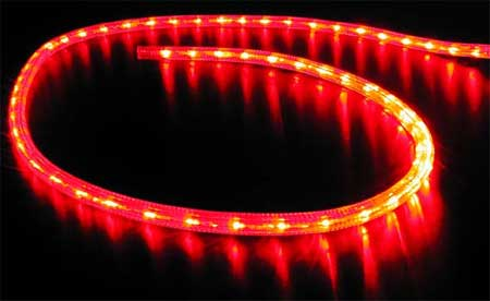 12 volt led rope lights in red blue cool white or warm white imtra 12 volt dc led ip65 rope lights blue green red ww mozeypictures Image collections