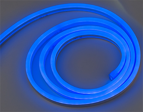 12 volt neon led rope light in blue warm white and cool white imtras ileml neon cool white 12 volt dc led rope light aloadofball Choice Image