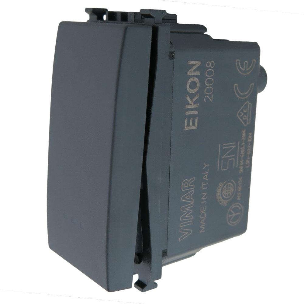 Vimar 20008 Eikon Momentary Illuminated 250 Volt 1M Switch