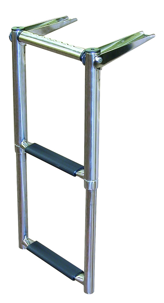 Jif Marine 2 4 Step Over Platform Telescoping Boat Ladder