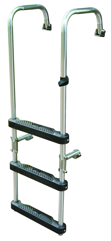 Jif Marine 3 Step Transom Ladder With Folding Bottom Steps