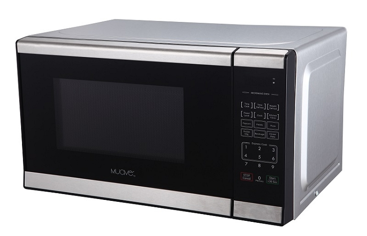Muave 120 Volt Small Stainless Steel Microwave Oven