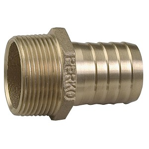 "Perko 1/2"" Pipe to Hose Adapter Straight Bronze MADE IN THE USA"