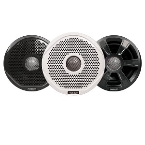 "FUSION FR6022 6"" Round 2-Way IPX65 Marine Speakers - 200W - Pair with 3 Speaker Grilles Provided - *Case of 6 Pairs*"