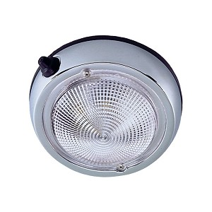 "Perko Surface Mount Dome Light - 3 3/4"" O.D. (3"" Lens) - Chrome Plated"