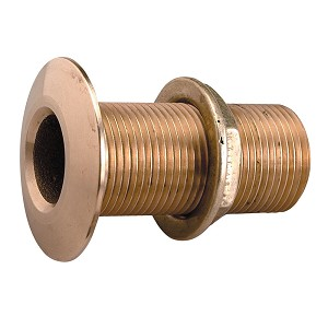 "Perko 3/8"" Thru-Hull Fitting w/Pipe Thread Bronze MADE IN THE USA"
