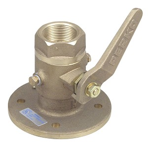 "Perko 1-1/2"" Seacock Ball Valve Bronze MADE IN THE USA"
