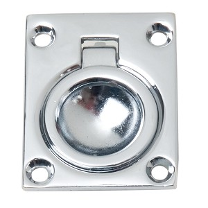 Perko Flush Ring Pull - Chrome Plated Zinc