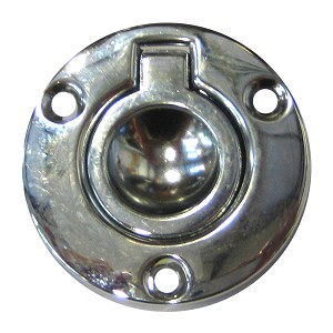 Perko Round Flush Ring Pull 2 Quot Chrome Plated Zinc