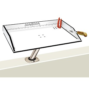 "Magma Bait/Filet Mate Table w/LeveLock Mount - 20"" - White/Black"