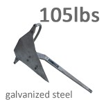 Mantus 105 Pound Galvanized Steel Anchor